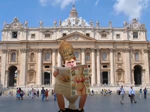 Pope Bob Takes His Throne Outside St Peter's